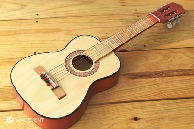 Orange Acoustic Guitar