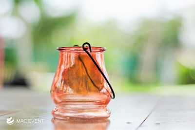 Orange Handle Votive